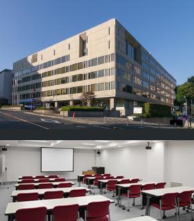 機械振興会館外観と会議室